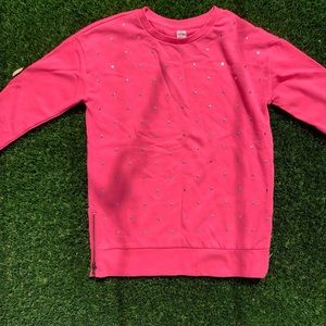 GAP pink sweater with hearts